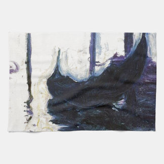 Monet Gondola In Venice Tea Towel