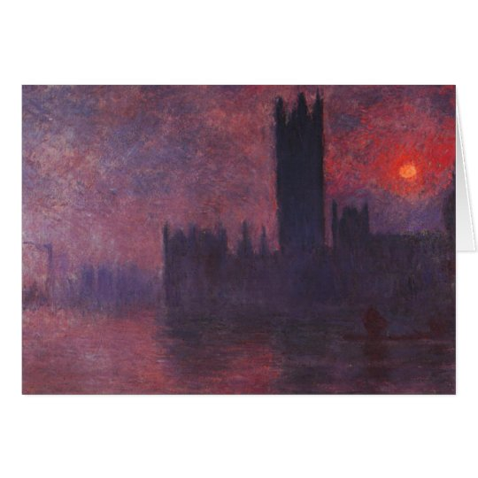 Monet Houses of Parliament at Sunset Greeting Card