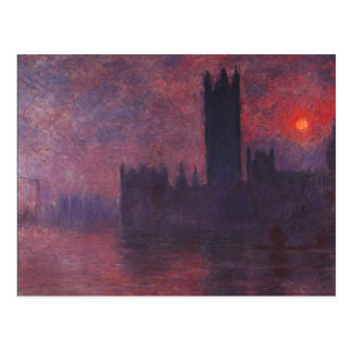 Monet Houses of Parliament at Sunset Postcard