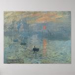 Monet, Impression, Sunrise Poster