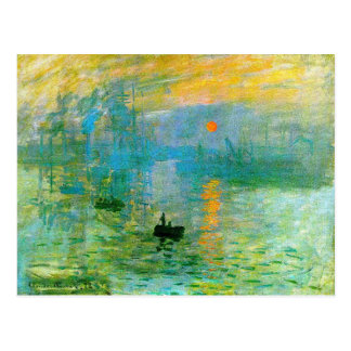 Monet Impressionism Sunrise Postcard
