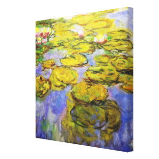 Monet Inspired Lily Pads Gallery Wrapped Canvas