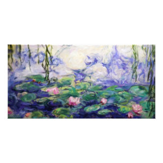 Monet Inspired Water Lilies Customised Photo Card