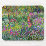 Monet Iris Garden at Giverny Mouse Pad