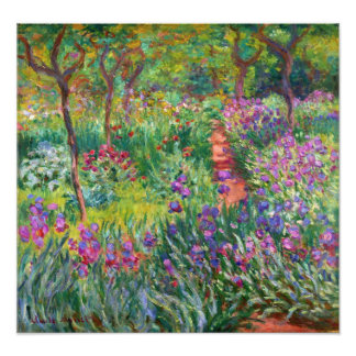 Monet Iris Garden at Giverny Photo Print