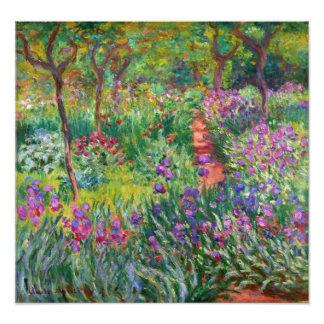 Monet Iris Garden at Giverny Photo Print