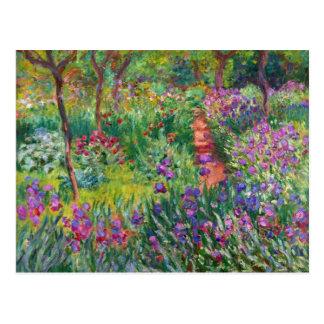 Monet Iris Garden at Giverny Postcard