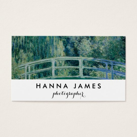 Monet Japanese Bridge Fine Art Personalised Text Business