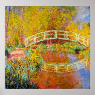 Monet Japanese Bridge Poster