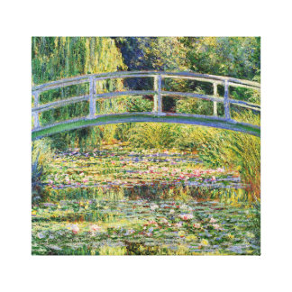 Monet Japanese Bridge with Water Lilies Canvas Print
