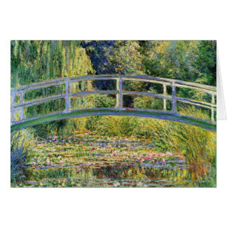 Monet Japanese Bridge with Water Lilies Card