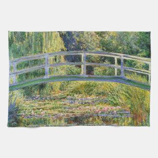 Monet Japanese Bridge with Water Lilies Hand Towel