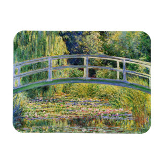 Monet Japanese Bridge with Water Lilies Magnet