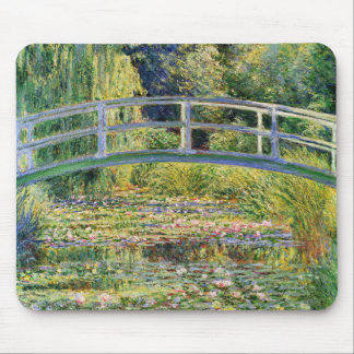 Monet Japanese Bridge with Water Lilies Mouse Pad