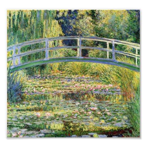 Monet Japanese Bridge with Water Lilies Print Photo Print