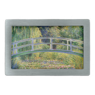 Monet Japanese Bridge with Water Lilies Rectangular Belt Buckles
