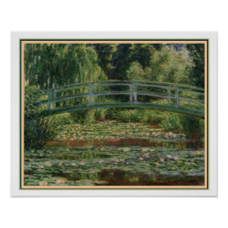 Monet - Japanese Footbridge & Water Lily Pool Poster