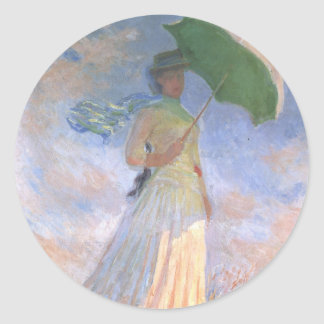 Monet Lady with Umbrella Stickers