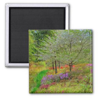 Monet Landscape Square Magnet