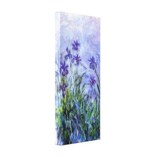 Monet Lilac Irises Stretched Canvas Prints