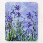 Monet Lilac Irises Mouse Pad