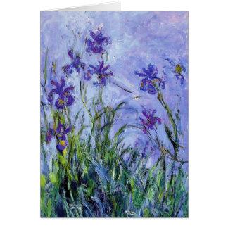 Monet Lilac Irises Note Card