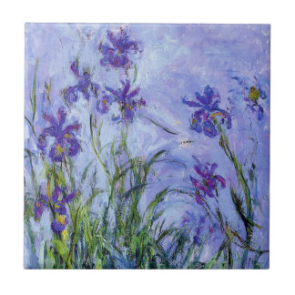 Monet Lilac Irises Tile