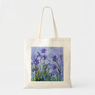 Monet Lilac Irises Tote Bag