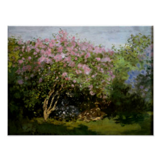 Monet - Lilacs in the Sun Poster