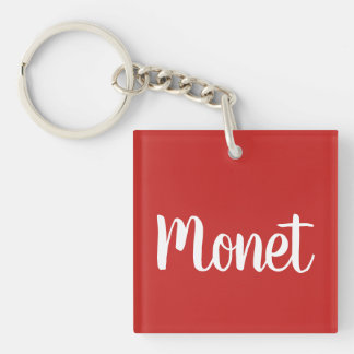 Monet, Lips, hearts  Keychain
