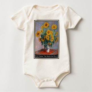 Monet Makes The World Go Round Baby Grow Creeper. Baby Bodysuit