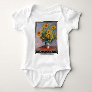 Monet Makes The World Go Round Babygrow Creeper. Baby Bodysuit
