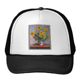 Monet Makes The World Go Round Cap Trucker Hats