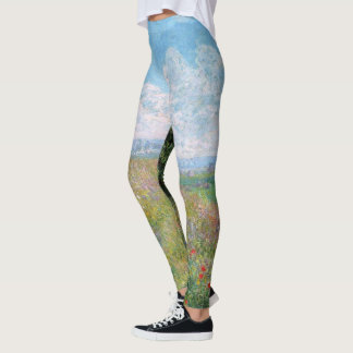 Monet Meadow Poplars All Over Print Leggings