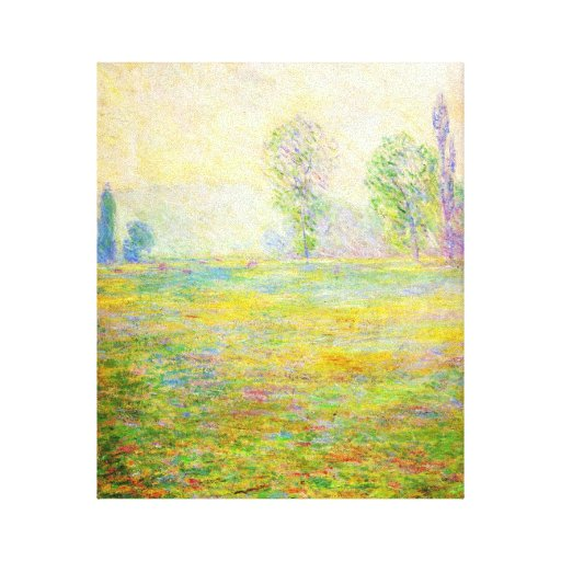Monet Meadows at Giverny Stretched Canvas Print
