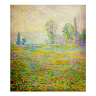 Monet Meadows at Giverny Poster