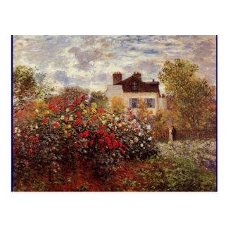 Monet - Monet's Garden in Argenteuil Sun Postcard