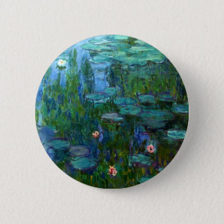 Monet Nympheas Water Lilies Button