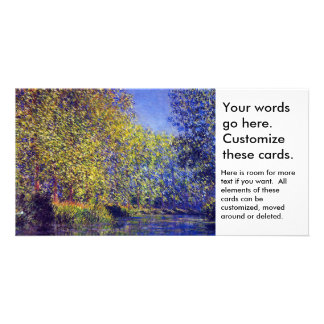 Monet painting bend in Epte river near Giverny Personalised Photo Card