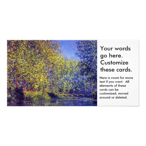 Monet painting bend in Epte river near Giverny Photo Greeting Card