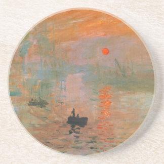 Monet Painting Beverage Coaster