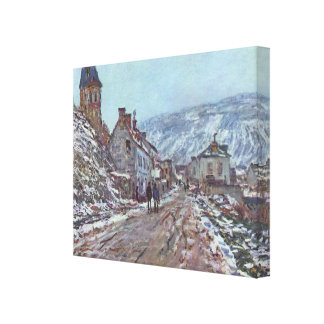Monet Painting Gallery Wrapped Canvas