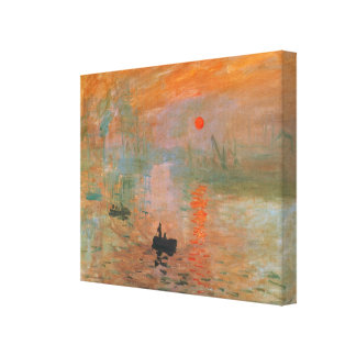 Monet Painting Stretched Canvas Print