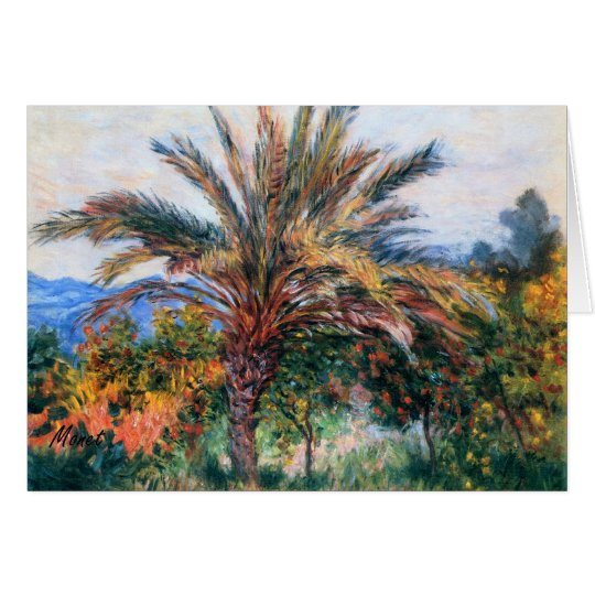 MONET Palm Tree at Bordighera 1884 Greeting Card