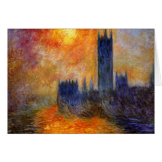 Monet - Parliament in the sun - impressionist art Greeting Card