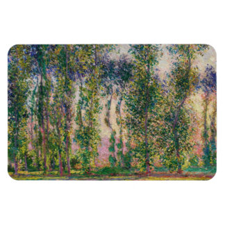 Monet Poplars at Giverny Magnet
