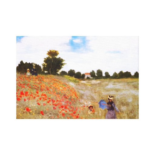 Monet Poppies Gallery Wrap Canvas