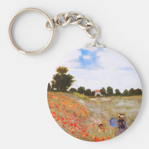 Monet Poppies Key Chain