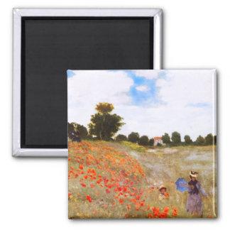 Monet Poppies Magnet