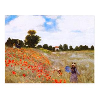 Monet Poppies Postcard